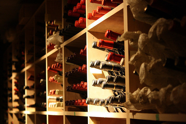 photo of a wine cellar collection