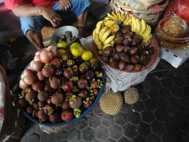 Head to any market in Bali to find mangosteen, rambutans and snakeskin fruit among bananas and passionfruits!