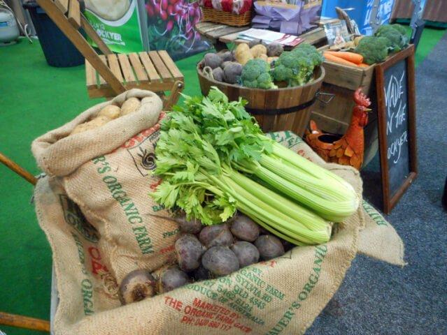 fresh farm veg display