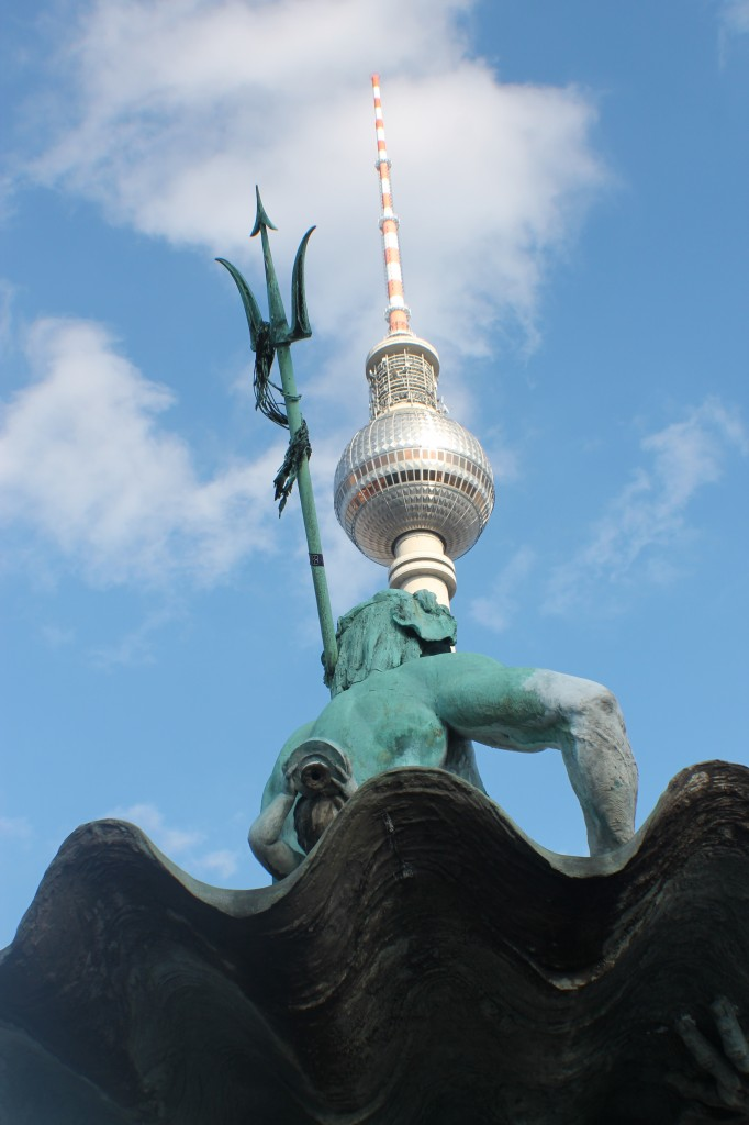 It really exists: Neptune and the TV Tower in Alexanderplatz