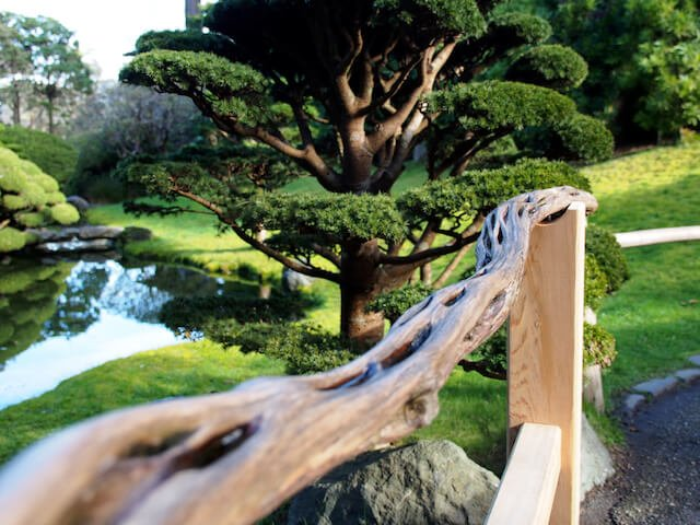 japanese tea garden san francisco railing