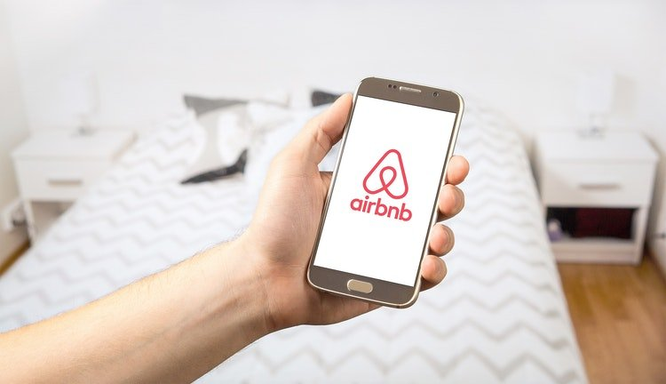 Airbnb on mobile phone