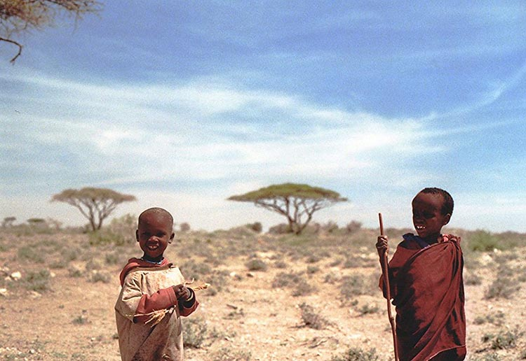 Two kids from Tanzania