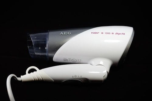 folding hair dryer